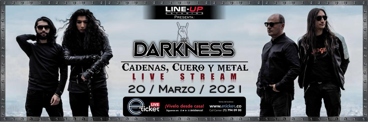 DARKNESS - CADENAS, CUERO Y METAL
